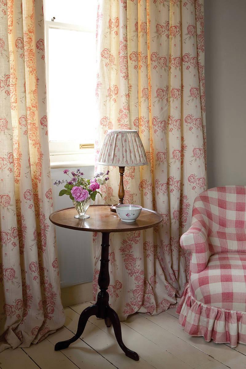 Tienda online telas papel telas para cortinas shabby chic - Cortinas estampadas para salon ...