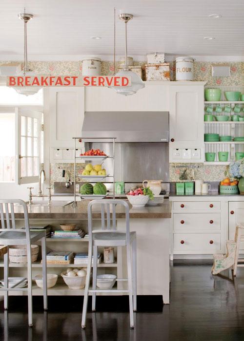 preciosa cocina con las paredes with papel para paredes de cocina