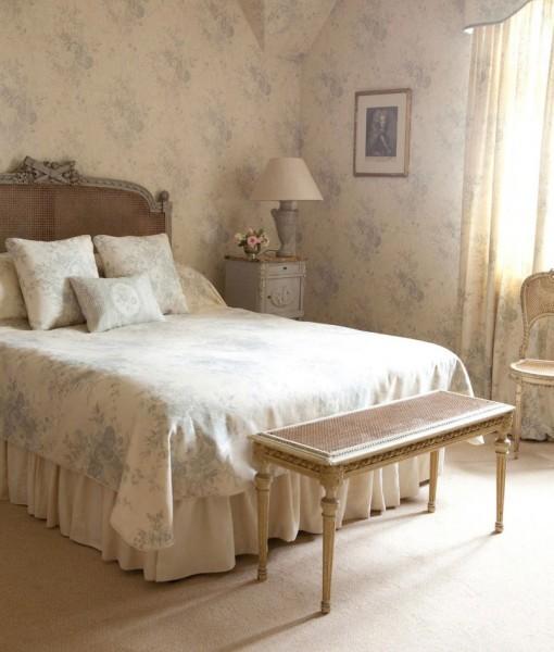 Papel pintado kate roses blue telas papel - Dormitorios empapelados ...