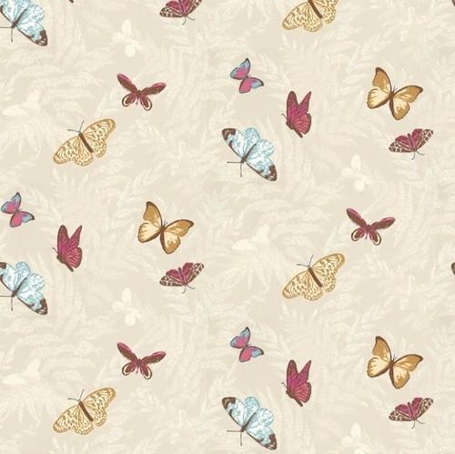 Tienda online telas papel papeles pintados de nina - Papel pintado mariposas ...