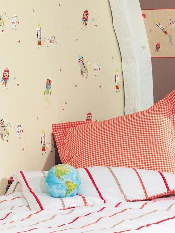 Tienda online telas papel papel infantil para paredes - Papel pintado para paredes ninos ...