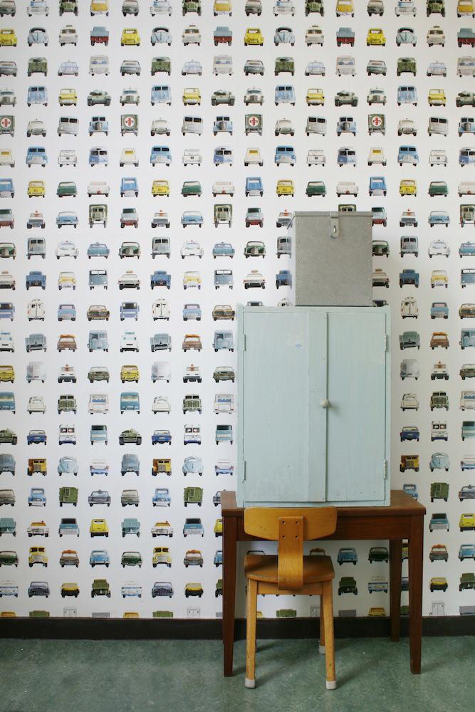 Tienda online telas papel papel pintado coches juguete - Papel pintado online ...