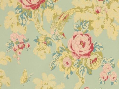 Tienda online telas papel papel pintado con flores for Imagenes de papel pintado