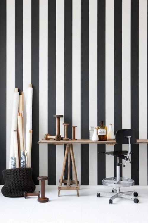 Tienda online telas papel como decorar una habitaci n - Papel pintado rayas verticales ...