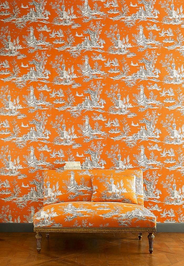 Tienda online telas papel papeles pintados de toile de - Papel pintado toile de jouy ...