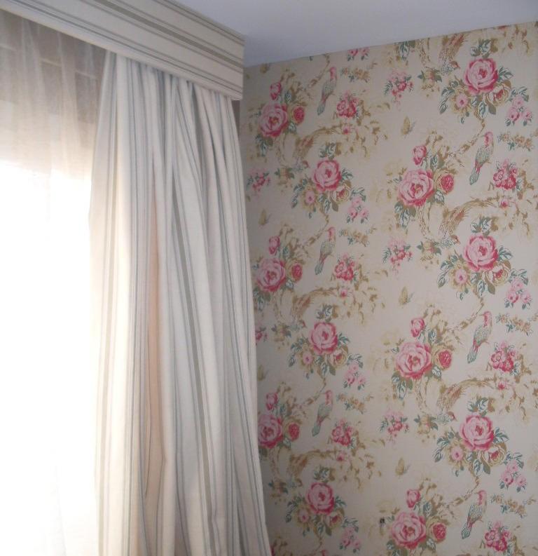 Tienda online telas papel papel pintado con flores - Papeles y telas ...
