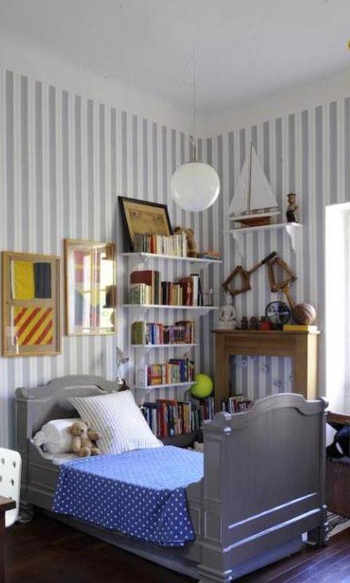Tienda online telas papel como decorar una habitaci n con papel pintado de rayas - Habitacion con papel pintado ...