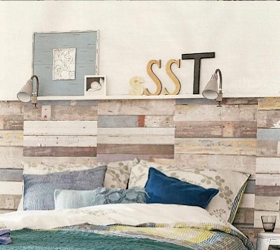 Tienda online telas papel papel pintado madera decapada for Cabeceros de cama con papel pintado