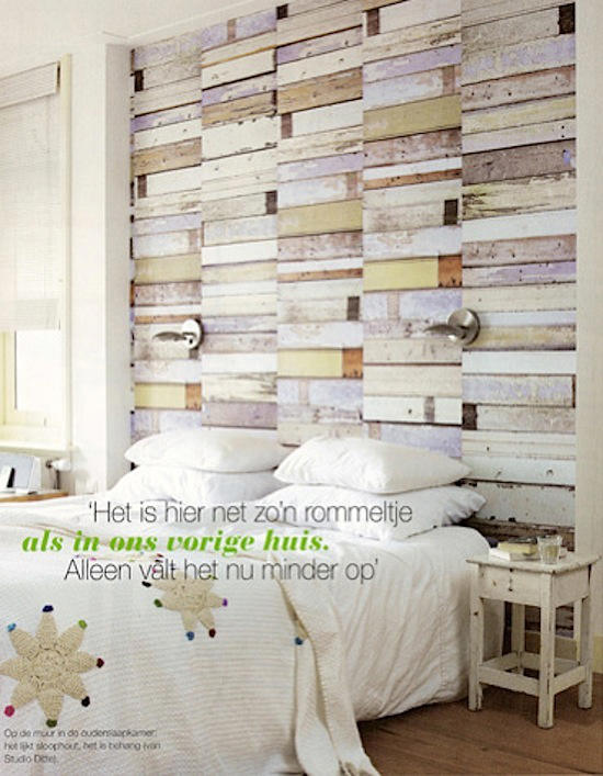 Tienda online telas papel papel pintado madera decapada for Papel pared dormitorio