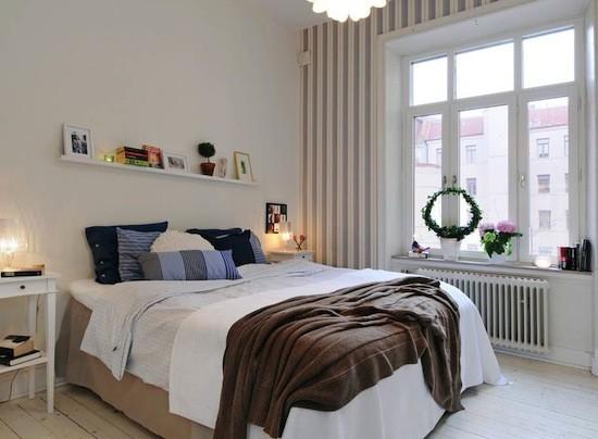 Tienda online telas papel decorar con papel pintado el - Dormitorios pintados a rayas ...
