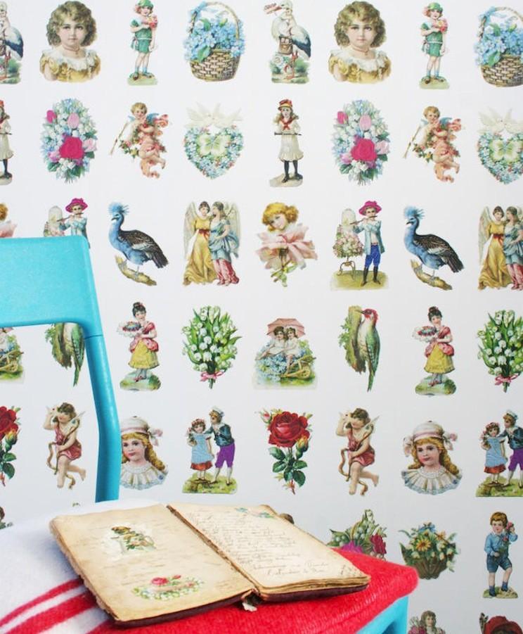 Tienda online telas papel papel pintado recortables - Papel pintado online ...