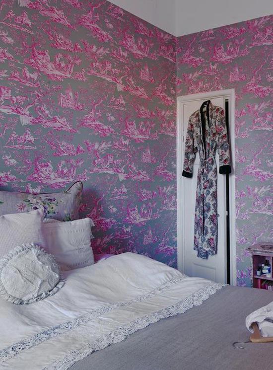 Tienda online telas papel decorar con papel pintado el - Papel pintado dormitorio principal ...