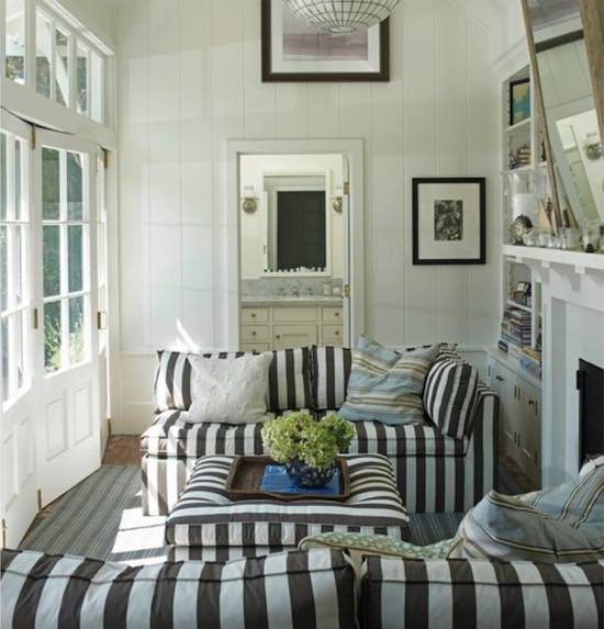 Tienda online telas papel tela de rayas grises - Tapizar cojines sofa ...