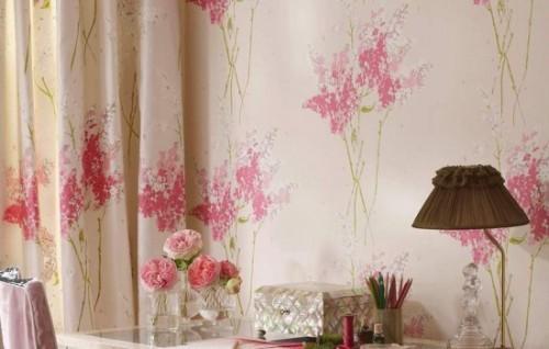 Cortinas De Baño Once:tela de flores para cortinas