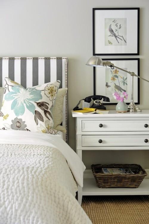 Cabeceros de cama tapizados con telas de rayas telas papel - Cabeceros de cama tapizados de tela ...