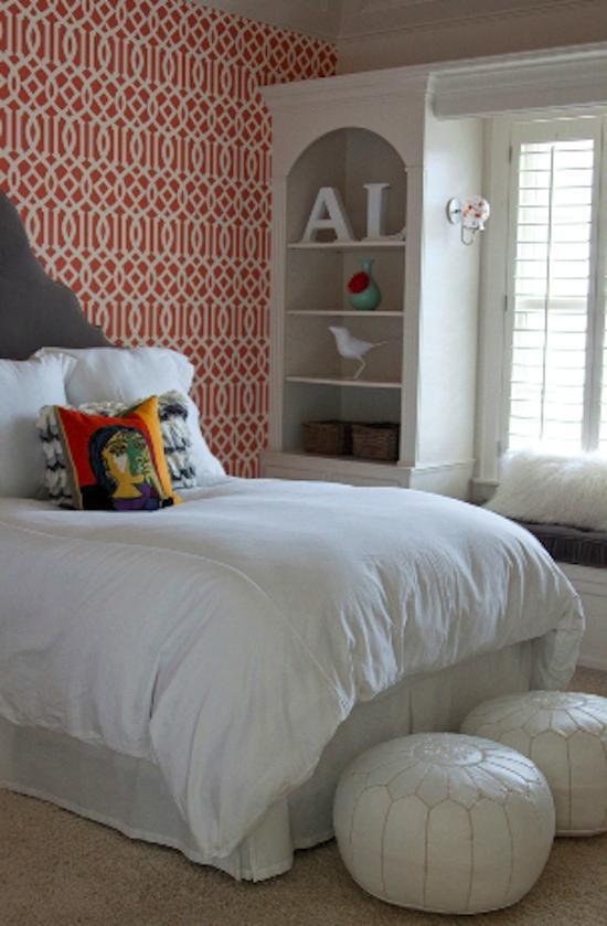 Tienda online telas papel decorar las paredes del dormitorio juvenil con un bonito papel pintado - Ideas decoracion paredes dormitorios ...