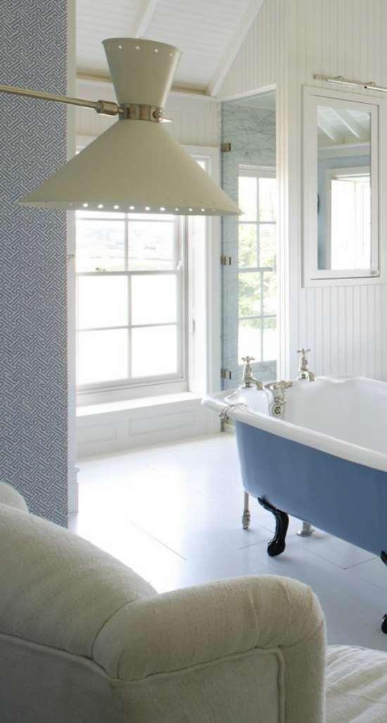 tienda online telas & papel | decorar las paredes del baño con papel ...