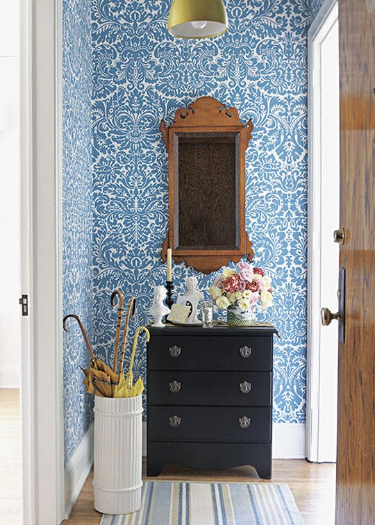 Tienda online telas papel decorar las paredes del for Papel pintado entrada