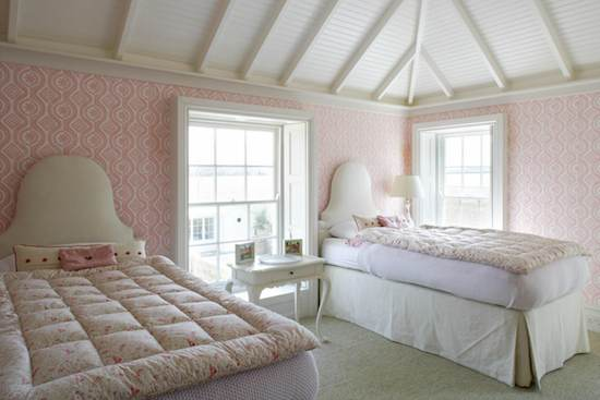 decorar las paredes de una habitacin doble con papel pintado