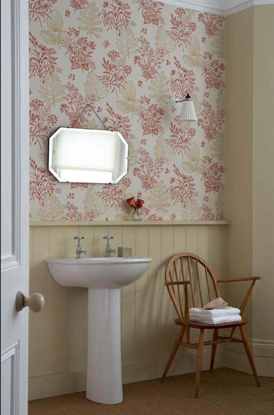Tienda online telas papel decorar las paredes del ba o - Papel pintado para el bano ...
