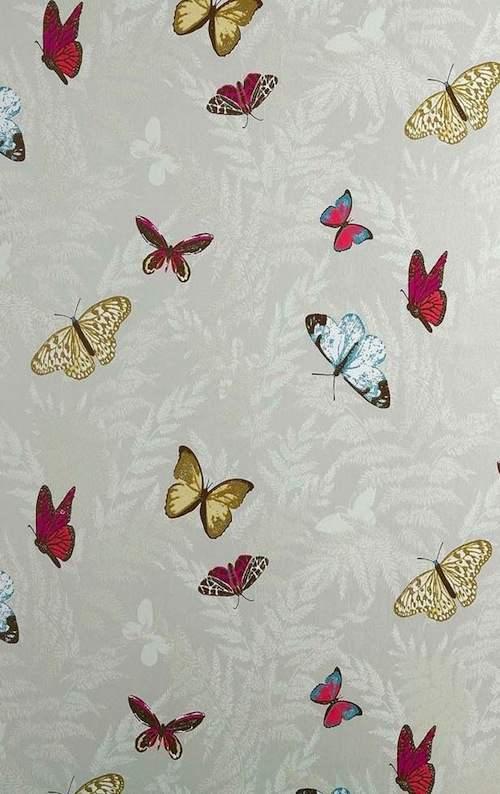 Tienda online telas papel papel pintado de mariposas - Papel pintado mariposas ...