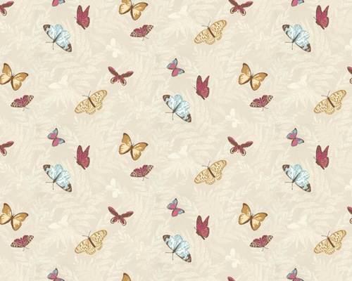 Tienda online telas papel papel pintado de mariposas for Imagenes de papel pintado