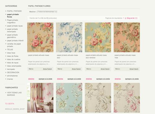 Tienda online telas papel papel pintado online en - Papeles pintados la maison ...