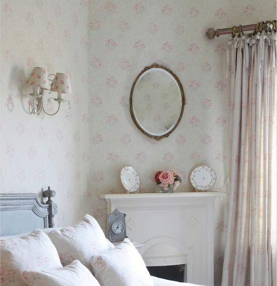 Tienda online telas papel papel pintado ingles para - Dormitorio con papel pintado ...