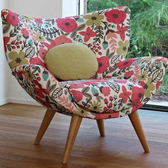 Tienda online telas papel tela con flores tipo retro for Telas para tapizar sillas comedor