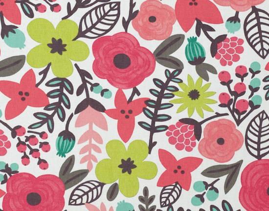 tela con flores de colores