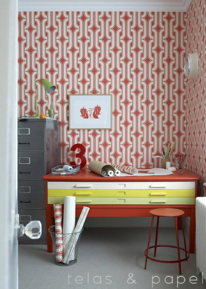 Tienda online telas papel papel pintado lavaliers for Papel pintado estampado