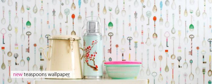 Tienda online telas papel papel pintado teaspoons - Fabricantes papel pintado ...
