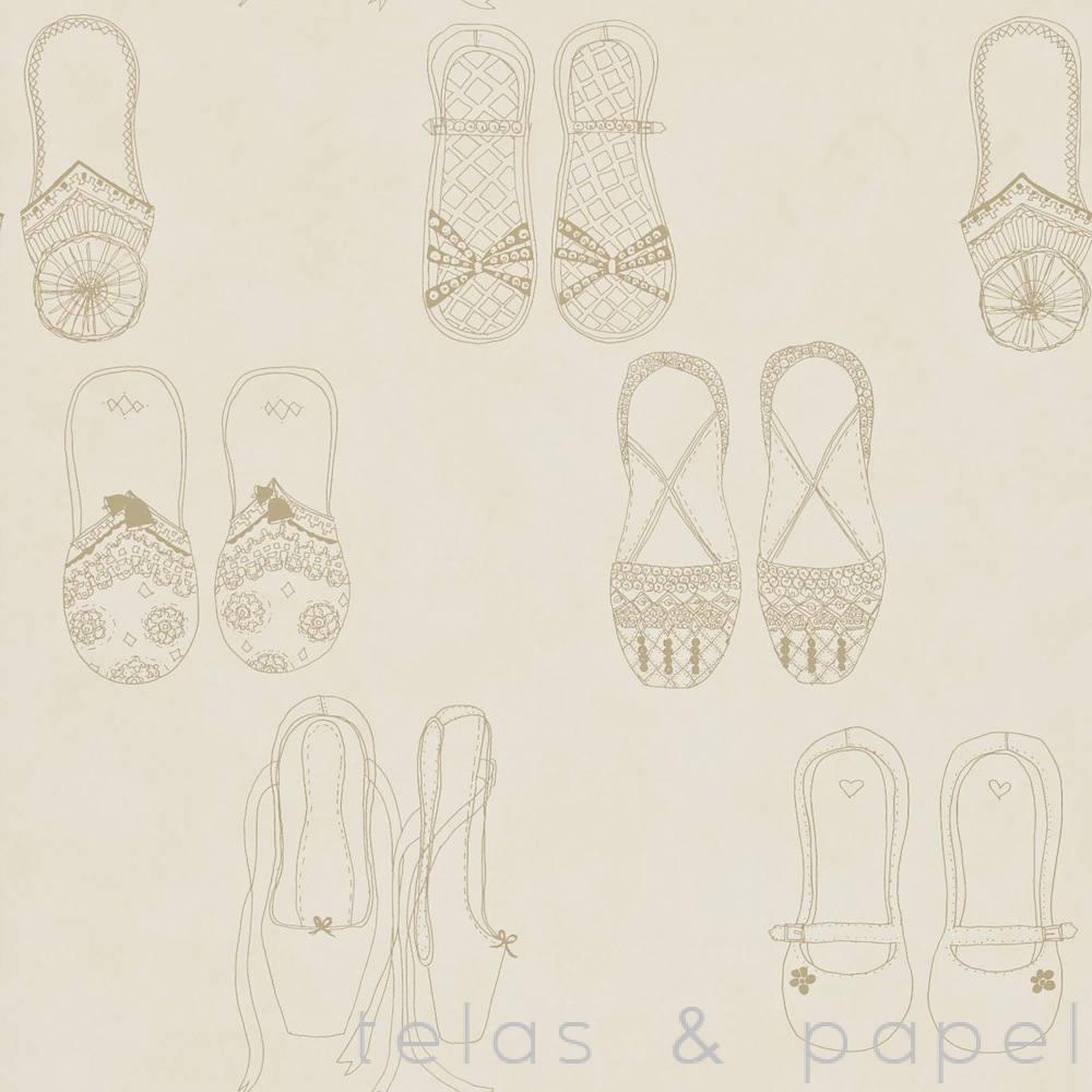 Tienda online telas papel papel pintado infantil for Papel pintado dorado