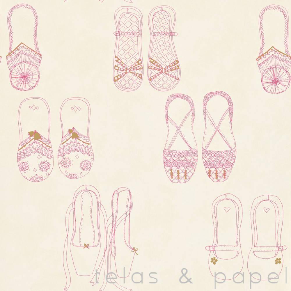 Tienda online telas papel papel pintado infantil - Papel pintado ninas ...