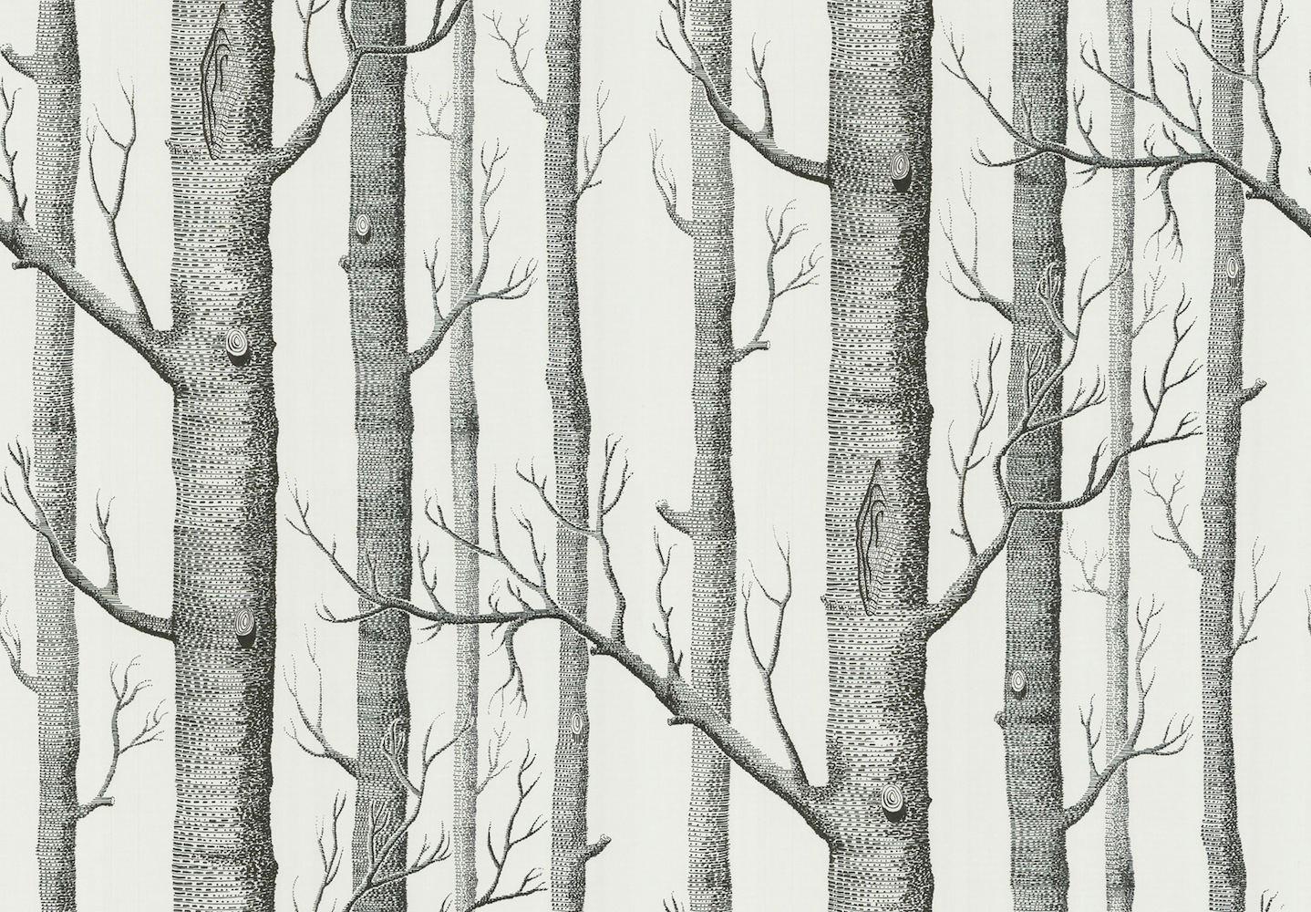tienda online telas & papel | papel pintado arboles blanco