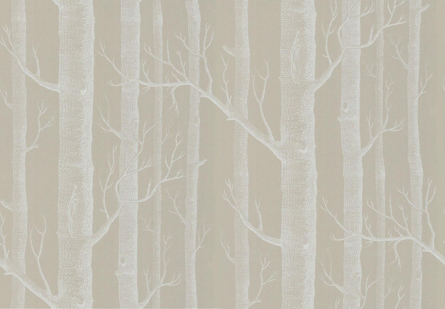Tienda online telas papel papel pintado arboles gris - Papel de pared gris ...