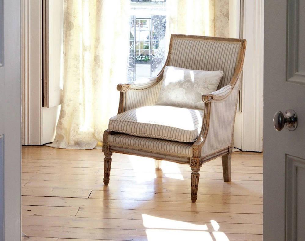 Tienda online telas papel lino rayas carbon - Telas para tapizar sillones orejeros ...