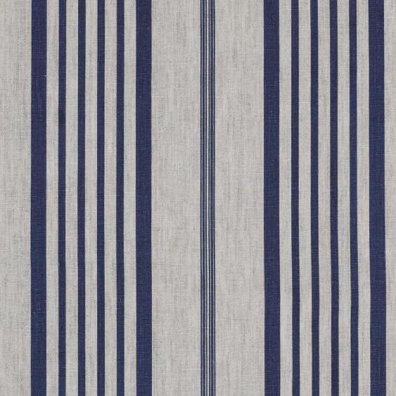 Tienda online telas papel lino rayas jollie azul for Telas para cortinas de salon