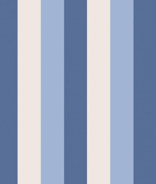 Papel pintado rayas carnaby azul telas papel - Papeles pintados de rayas ...