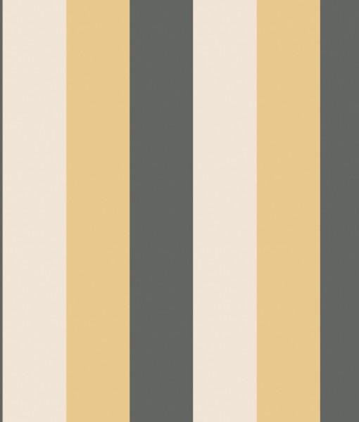 Papel pintado rayas carnaby amarillo telas papel - Papeles pintados rayas ...
