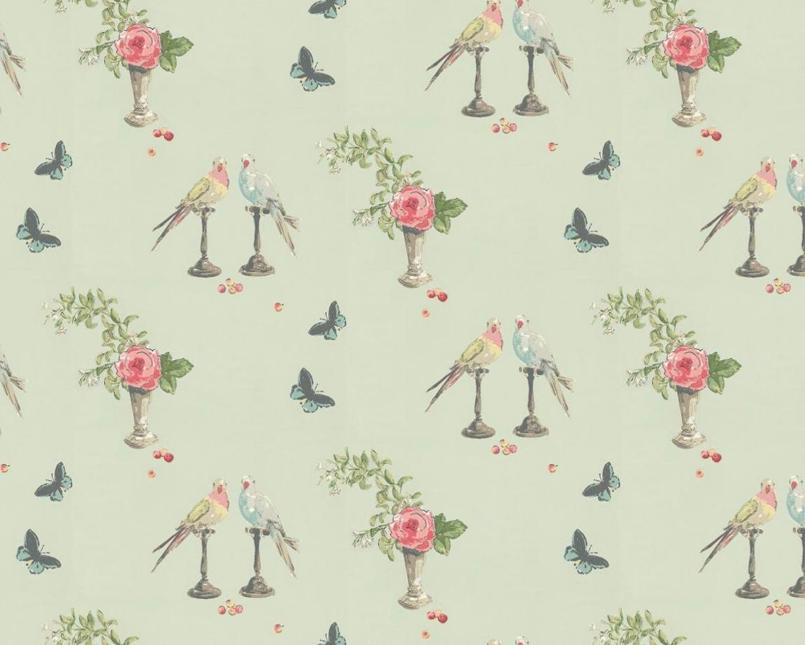 Tienda online telas papel papel pintado perroquet azul for De papel pintado