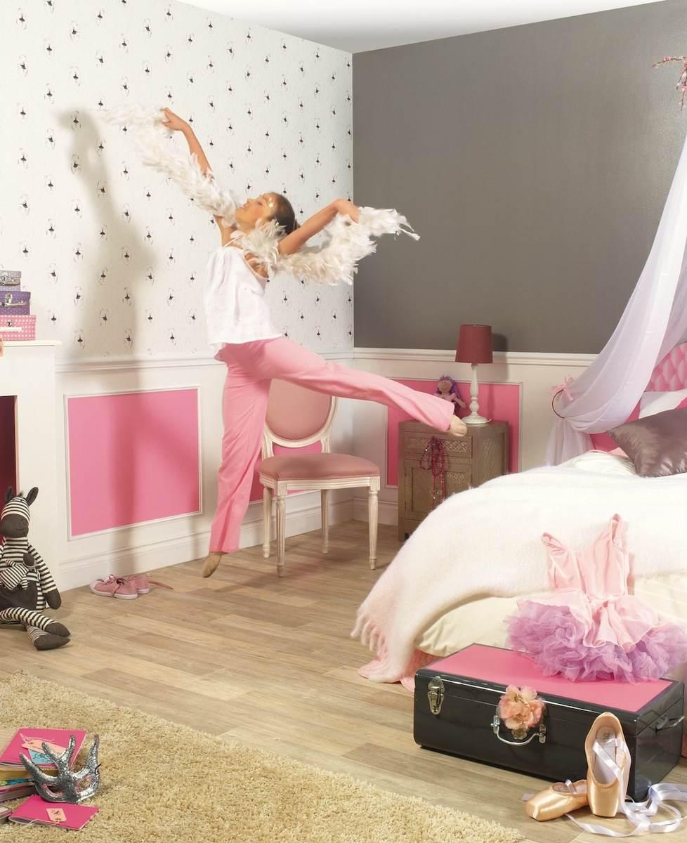 Tienda online telas papel papel pintado bailarinas for Papel de decoracion para habitaciones