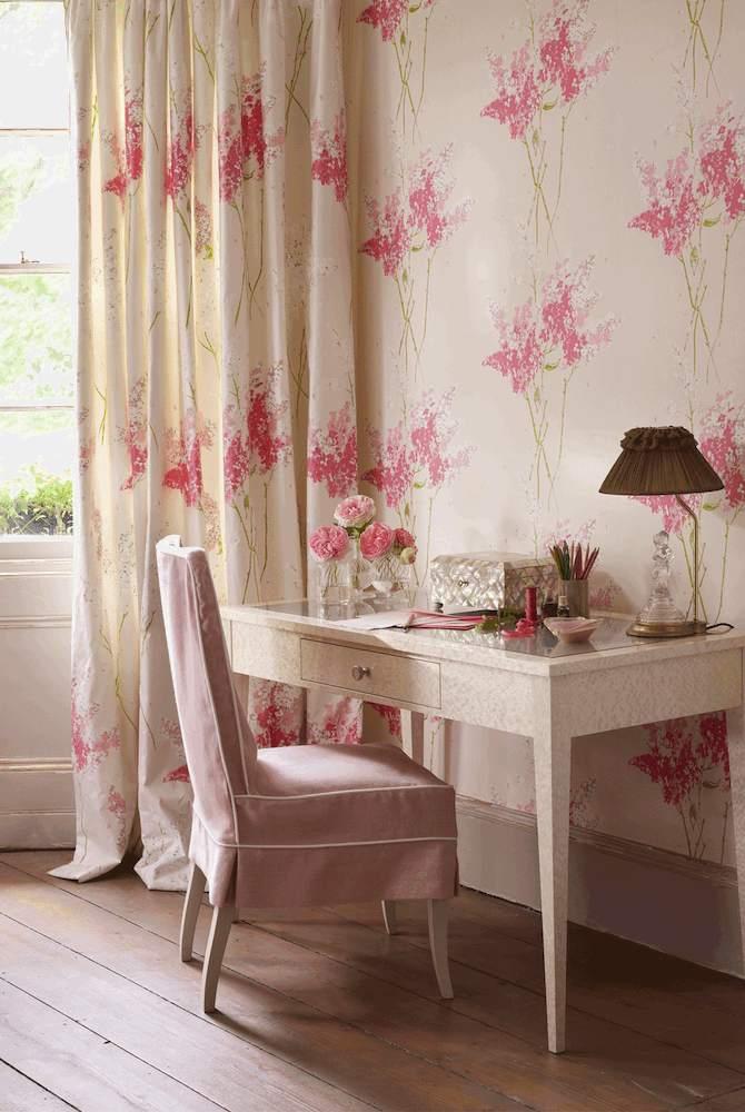 Tienda online telas papel tela flores barringtong en 3 colores - Tela cortinas infantiles ...