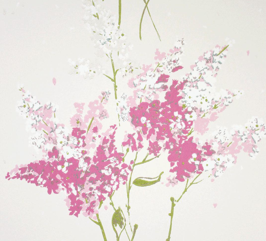 Papel pintado flores barrington en 4 colores telas papel - Papel pintado colores ...