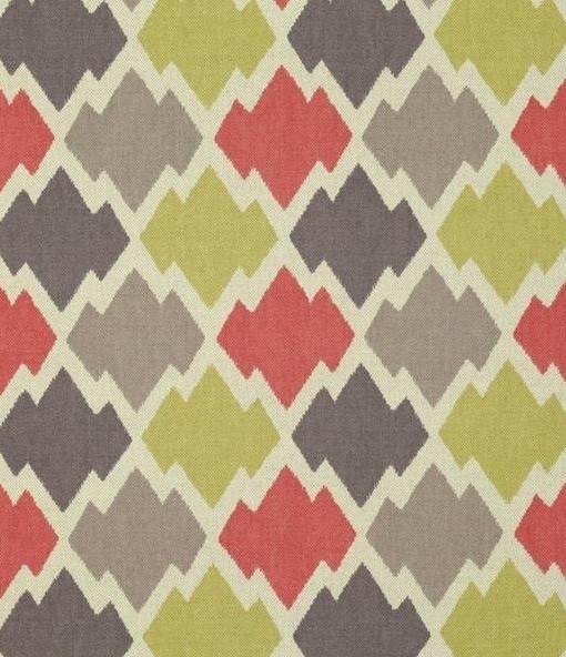 Tela estampado geom trico mulu color prapika telas papel - Catalogo de telas para tapizar ...
