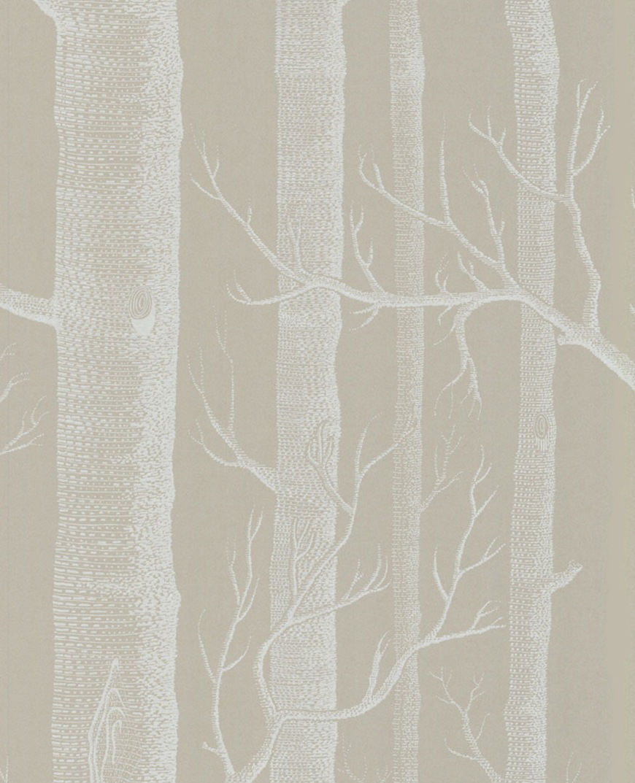 Tienda online telas papel papel pintado arboles gris piedra - Papel pintado gris ...