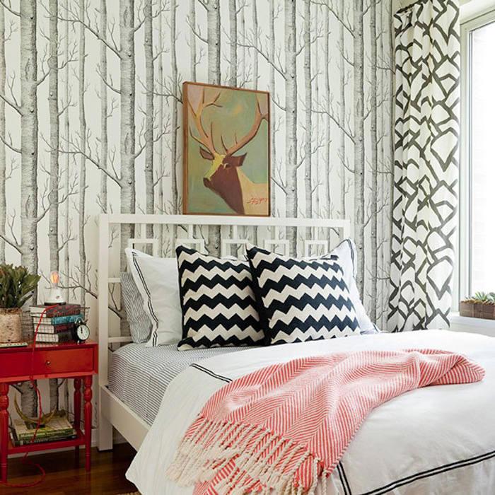 Tienda online telas papel papel pintado arboles - Cabecero papel pintado ...