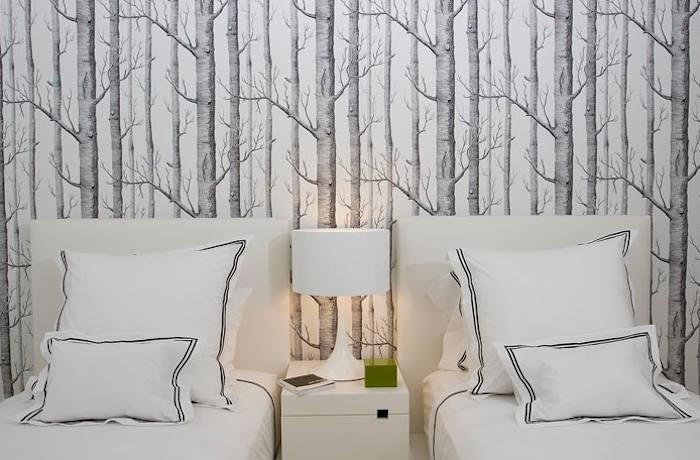 Tienda online telas papel papel pintado arboles - Papel pared dormitorio ...