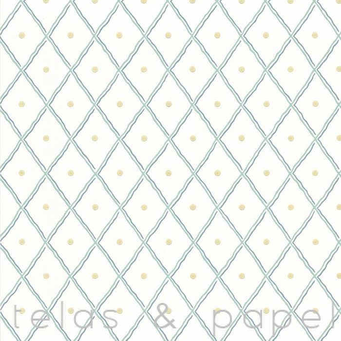 Tienda online telas papel papel pintado con estampado for Papel pintado tonos verdes