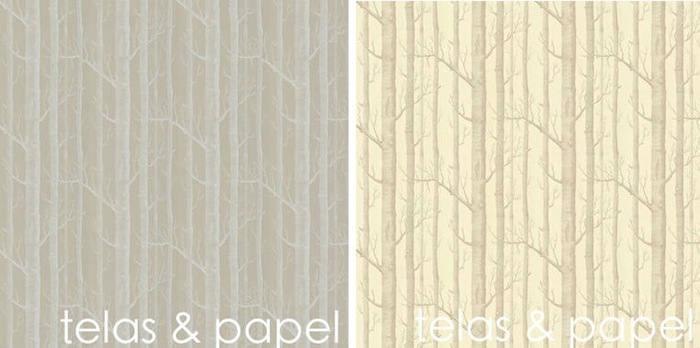 Tienda online telas papel papel pintado arboles - Catalogo de papel pintado para paredes ...